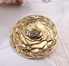 nice design House emblem A Song of Ice and Fire  Highgarden rose Pin brooches jewelry House Tyrell of Highgarden emblem