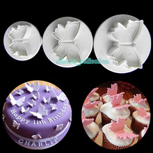 3pcs/set 3D Butterfly Shape Plunger Cutter Cookie Cake Decorating Mould DIY Cupcake Fondant Candy Pastry Confectionary Bakeware(China)