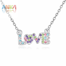 Jewelry Special Offer Trendy Pendant Necklaces 2017 Summer Love Crystal Pendant Necklace For New Gift For Women #113525