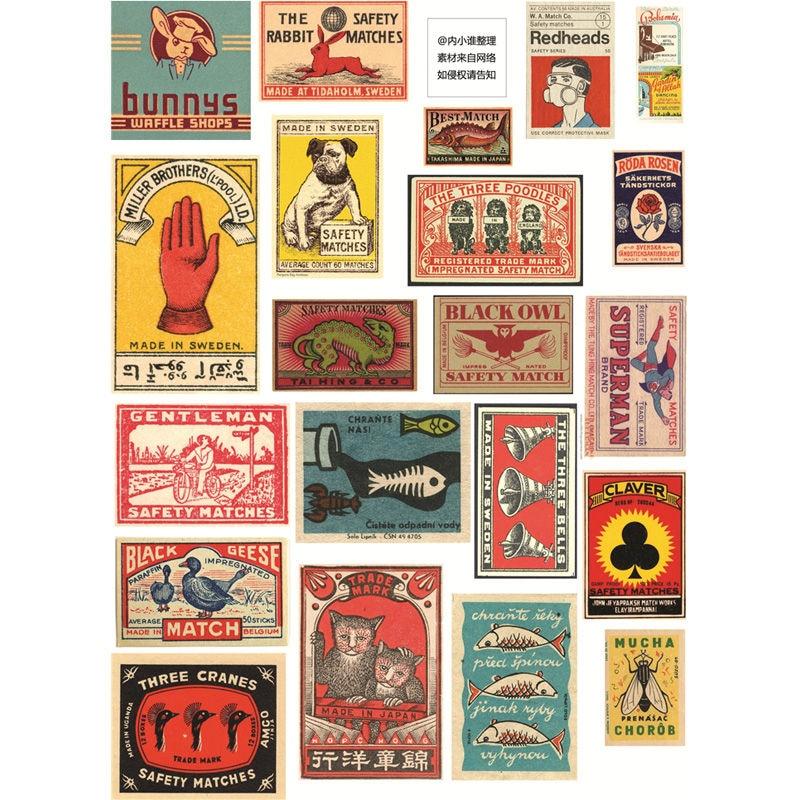 60pcs Vintage Car Plant Stickers Kawaii Stationery DIY Scrapbooking Stickers Set