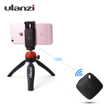 Ulanzi Mini Protable Desktop Tripod with Bluetooth Remote Control for iPhone Samsung Smartphone Vlogger Youtube Livingstream(China)