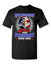 Newest 2017 men's fashion Thank You President Barack Obama 44th President USA Flag Adult T-Shirt Tee 100% Cotton Shirts
