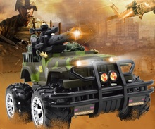Linda  RC car 1:16 Anti-terrorism Pioneer Camouflage Color Jeep  Kid's Toys Big Hummer