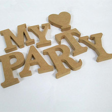 Personal Wood Wooden Letters Bridal Wedding Party Home Decoration DIY creative decorative furnishing articles(China)