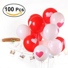 100pcs Romantic Latex Propose Balloons With Love Heart Balloon For Wedding Party Decoration Kids Toy Float Balloons
