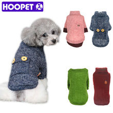 HOOPET Pet Dog Woolen Sweater Puppy Knitwear Clothes Hoodie Winter Warm Turtleneck Cat Apparel(China)