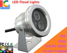3W LED Flood Lights Outdoor IP65 Aluminium LED Spotlights 12V 110V 220V advertising lamps shine tree lights pool lights 4PCs/Lot(China)