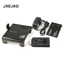 JEXJXO Yaesu FT-817 radio Li-ion battery pack 3300mAh+ black battery cover+ charger+ support bracket kit for FT 817 Base radio
