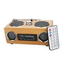 New Eco-friendly Hand-made Mini Portable Hi-fi Bamboo Wood Boombox Sound Card Speaker With Radio Function