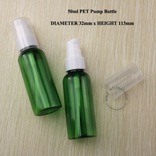 50g PET Green Cream Jar Bottle Plastic Lotion Pump Spray Cosmetic Container Packaging Makeup Canister Mask Sub-bottling 30PCS(China)