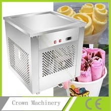 Intelligent temperature control Thai fried ice milk yogurt machine; Thai fried fruit ice cream fried ice machine