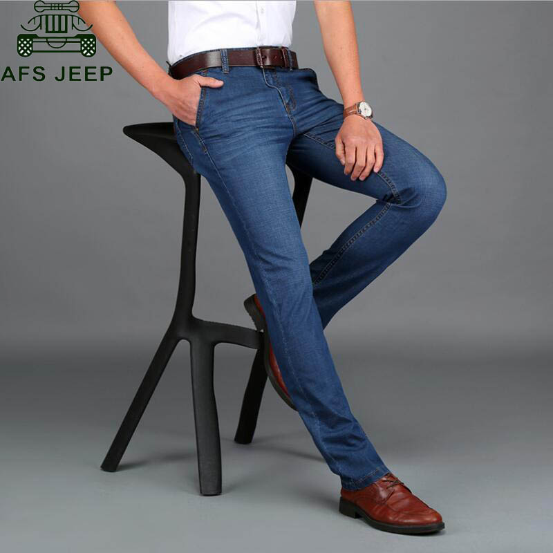AFS JEEP Mens Jeans 2016 New Arrival Spring/Autumn Jeans Men High Quality Denim Overalls Men Straight Loose Casual Male PantsÎäåæäà è àêñåññóàðû<br><br>