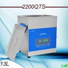 free shipping AC110v/220v smart ultrasonic cleaner 13L 2200QTS dual frequency dual power with degas ,sweep fuction(China)