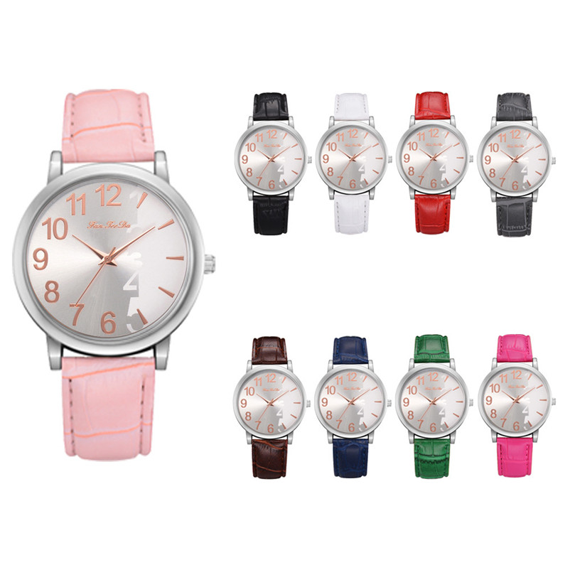 2018 High Quality women fashion casual watch luxury dress Leather bands Analog Quartz Wrist Watch clock relogio feminino Y12 (2)