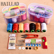 Portable Design Sewing Kit Needle Thread Hand Sewing Box Tool Kit DIY Hand Needle Assorted Crochet Full Set Measure Tape Scissor(China)