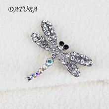 Europe and the United States jewelry fashion  Silver Crystal  Dragonfly  Leopard exaggerated jewelry Brooch Pins For Women