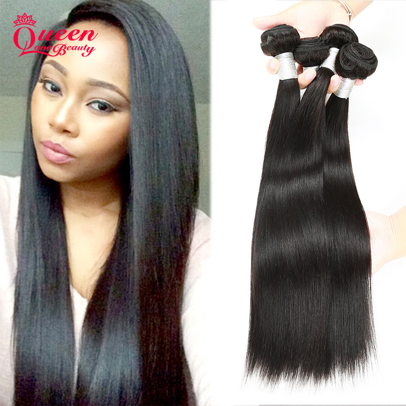 8A Unprocessed Indian Virgin Hair Straight 4Bundles/lot Virgin Hair Products Raw Indian Straight Hair Weave Human Hair Extension<br><br>Aliexpress