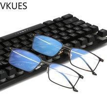 TR90 VKUES Novo Das Mulheres Dos Homens Anti Óculos Luz Azul Quadro de Luz  Azul Luz Bloqueio Óculos Óculos de Computador Espelho. 3776ca5620