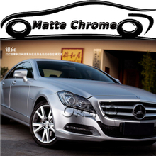 20 Meters Premium Silver Chrome Matte Metallic Wraps Vinyl Film Roll Air Release Vehicle Truck Car Wraps Decal