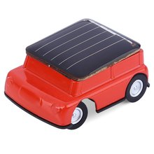 Mini Solar Power Car Educational Toy with Solar Panel Smallest Car Racer Gadget Children Kid's Toys