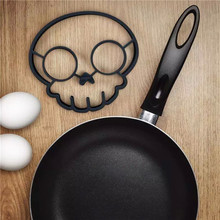 1 Pcs Unique Design Silicone Rubber Egg Mould Non-stick Fried Frying Pancake Mold Rings Cooking Skull Egg Mold Kitchen Tool(China)