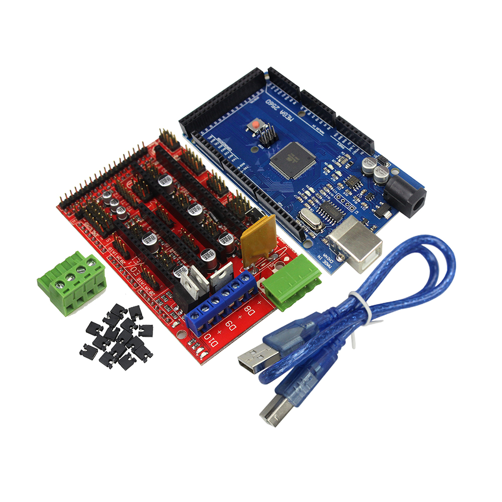 Free 3D Printer Mega 2560 R3 Mega2560 REV3 + RAMPS 1.4 Controller arduino Diy Kit