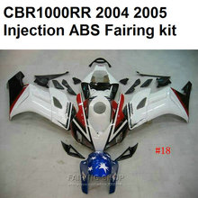 White painted For HONDA Cbr1000rr Fairings 2004 2005 ( 100%fit ) cbr 1000rr 04 05 Injection molding Fairing kit Ca62