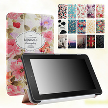 "Lovely Cartoon Tri-Fold Stand Leather Case Cover For New Amazon Kindle Fire 7 5th Gen SV98LN 7"" Tablet PC"