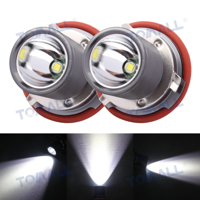 FINALSALE E39 LED Angle Eyes/DRL/Marker Lamp for 01-03 BMW 5-series face-lifted (525i,530i,540i) 10W with CREE Chip XM-L 1Pair<br>