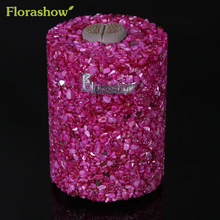 FLORASHOW Plant Flower Pots Mini Cultivate Succulent Plants Dyed Rose Red Shells Refined Production Scenery Flowerpot #P2012(China)