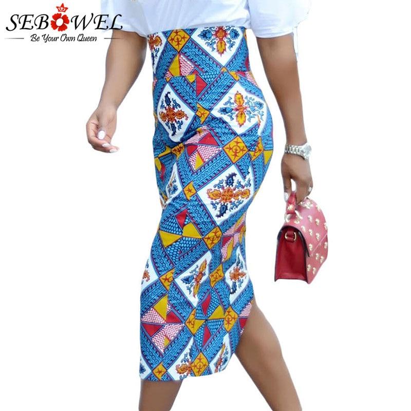 Bluish-African-Print-High-Waist-Bodycon-Pencil-Skirt-LC65104-5-2