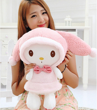 "13.8"" 35cm New Design Pink Hat My Melody Cute Rabbit Stuffed Plush Toys Doll Kid's Birthday Gift Home Decoration(China)"