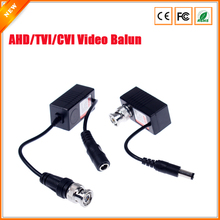 RJ45 UTP Cable CCTV Video BNC Balun Injector & Splitter For 720P 1080P AHD TVI CVI Security Camera Video Balun BNC(China)