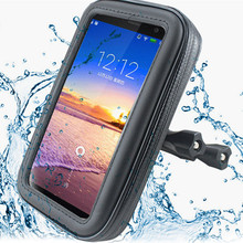 Bicycle Motorcycle Mobile phone Holder for iPhone X 8 7 6s Plus 5S SE Galaxy S8 plus Note7 5 S7 S6 Edge GPS with WaterProof Bag(China)