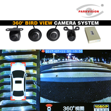 PARKVISION 360 Degree Bird View Car Camera System Front View / Left Side / Right Side / Rear View Support 4-way Camera Video(China)
