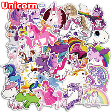 30 Pcs Colorful Cute Unicorn Stickers for Laptop Car Styling Phone Luggage Bike Motorcycle Mixed Cartoon Pvc Waterproof Sticker(China)