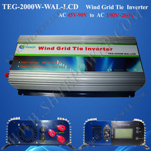 Wind turrbine on grid tie power inverter 2000w, converter 48v 220v, pure sine wave inverter 2000w