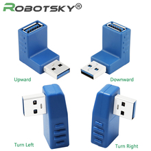 Robotsky High Speed USB3.0 Type A Male to Female Connector Plug Adapter USB 3.0 Converter Flexible Up, Down, Right, Left, Design(China)