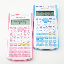 2016 New Cartoon Blue & Pink Hello Kitty Multi Function Special Scientific Calculator Color Test for Students