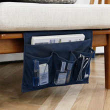 storage bag for TV remote control Creative Design Desk Cabinet Sofa Bed Side Pocket Hanging Bag phone organizer Blue(China)