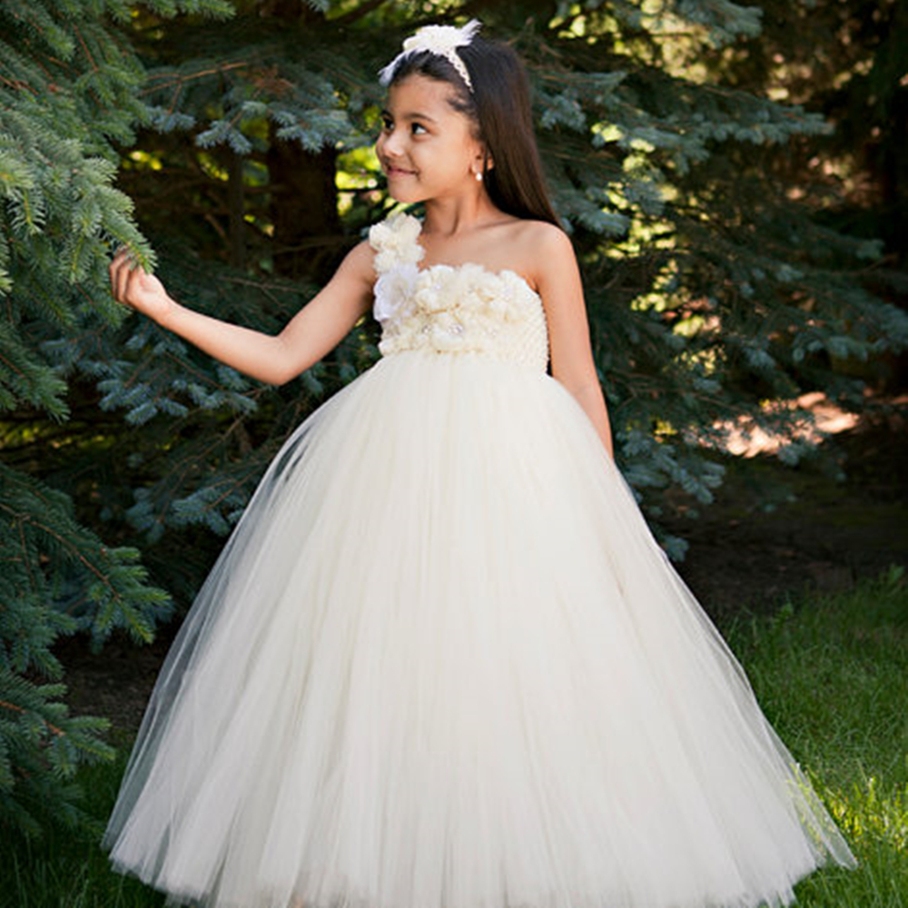 Gorgeous Flower Girls Dress Aqua Write Ivory Pink and Purple Princess Tutu For Birthday Clothing for Kids Baby Girls PT160<br>