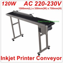 120w Inkjet Printer Conveyor Belt Conveyor Conveying Table Band Pipeline Carrier With 300mm belt width(China)