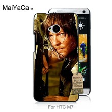Hot Printed Cool phone Accessories For case HTC One M7  Daryl  THE WALKING DEAD Design