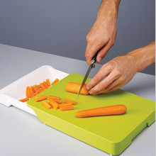 Multifunctional Drawer Cutting Board Non-slip Chopping Blocks PP Antibacteria Kitchen Chopping Board for Fruits and Vegetables(China)
