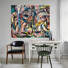 QK ART Abstract Oil Painting Wall Art Pictures For Living Room Circumcision Home Decor Printed Canvas Art Jackson Pollock