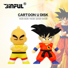 Hot pen drive 128gb 8gb cartoon Dragon Ball Goku Monkey 16gb 32gb usb flash drive 64gb prawn pendrive King gift Free shipping(China)