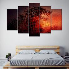 Canvas Wall Art Picture Prints Poster Painting Modular 5 Pieces Game Of Thrones For Living Room Decorative Pictures Frame PENGDA