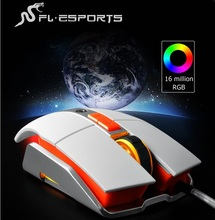 New FL-ESPORTS Full Metal Buttom USB Wired Backlit Gaming Mouse,Avago Chip,RGB Breathing Backlight