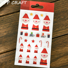 YPP CRAFT Lovely Santa Claus Self- adhesive Epoxy Sticker for Scrapbooking/ DIY Crafts/ Card Making Decoration