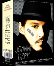 Free shipping 54pcs collective super star Johnny Depp poker cards male celebrity artistic playing card as novelty present